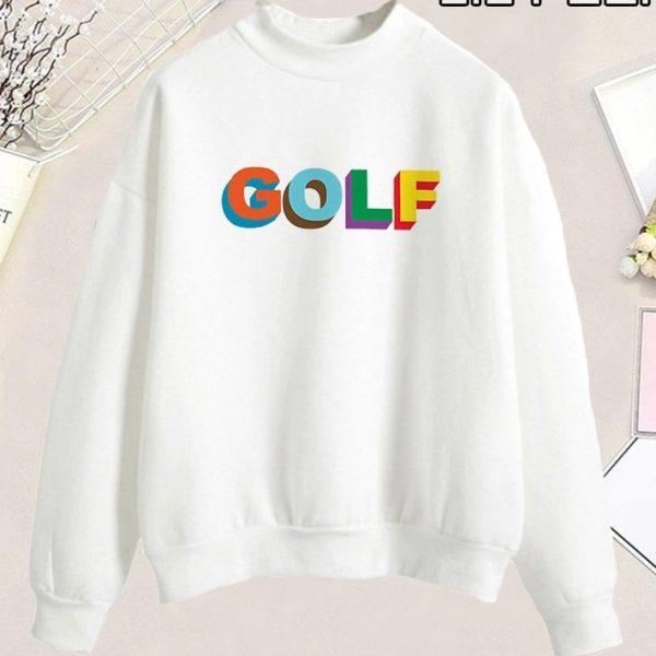 Punk Casual Pullover Golf Logo Streetwear Sweatshirt