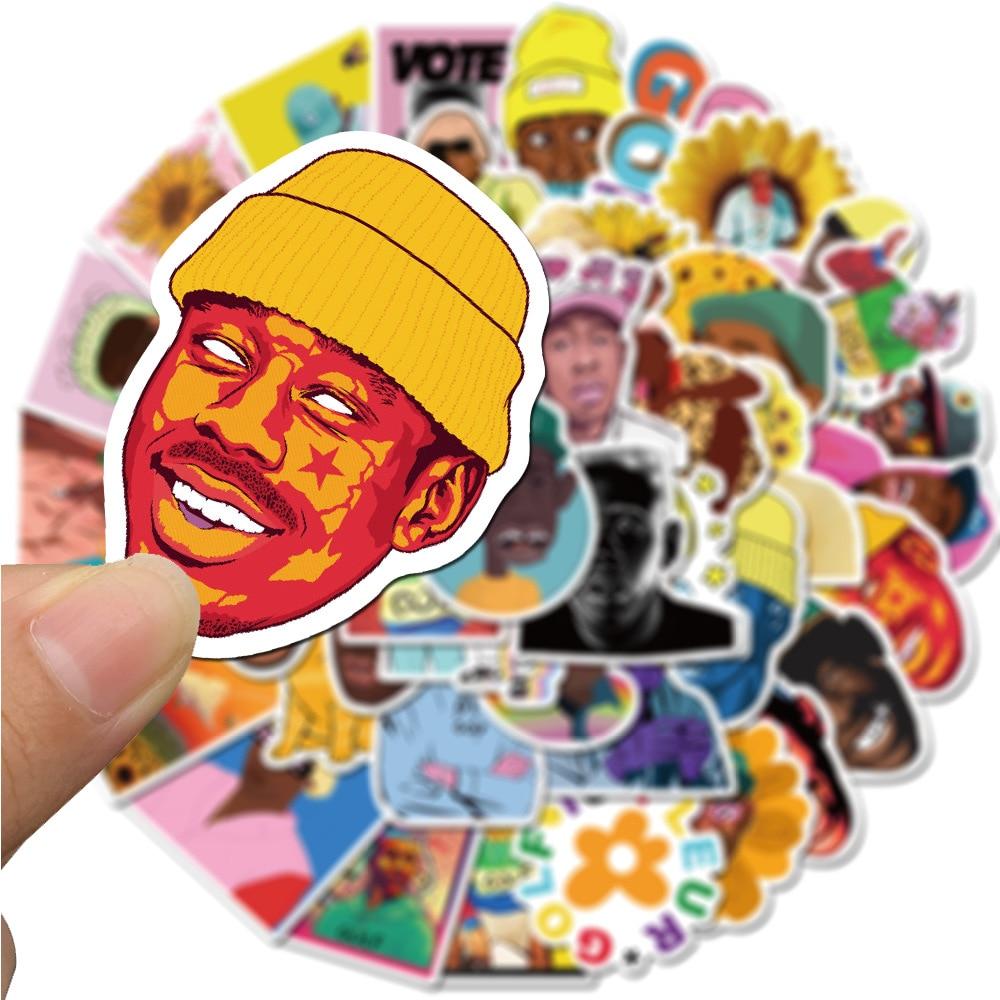 50PCS Rapper Tyler The Creator Stickers PVC