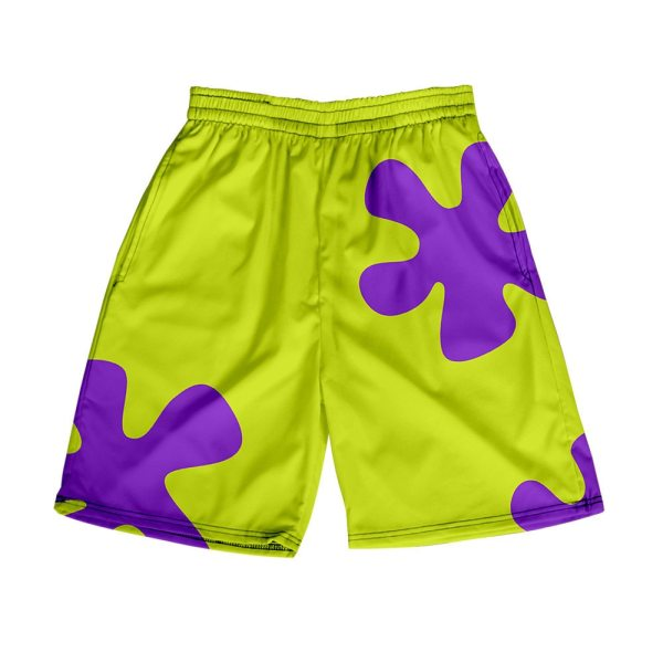 3D Anime Patrick Beach Swimming Shorts