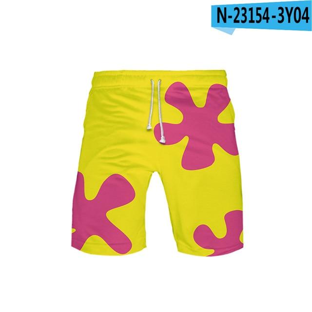 3D Anime Patrick Star Board Shorts Kids Swiming Shorts
