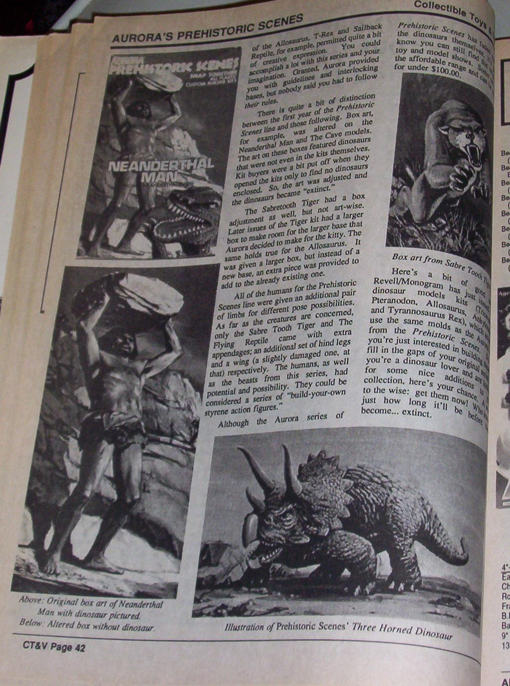 Aurora Prehistoric Scenes Models  Magazines
