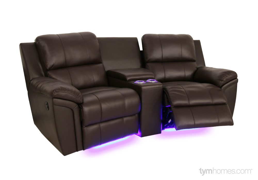 Seatcraft Home Theater Sectionals, Salt Lake City, Utah  |  Seatcraft Sectional 'Madison' brown