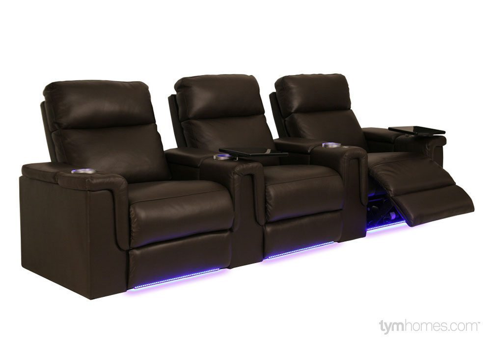 Seatcraft Home Theater Seating, Salt Lake City, Utah  |  Seatcraft 'Palamino' brown