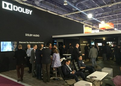 2015 NAB Show #NABshow | Dolby booth and Dolby Atmos & Dolby Vision demos