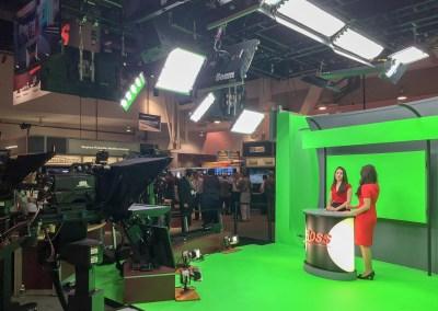2015 NAB Show #NABshow | virtual set demo with robotic cameras