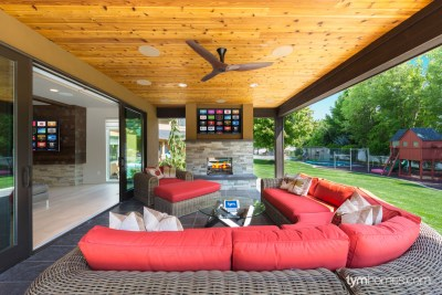 Boise home remodel | Paradigm in-ceiling speakers for patio surround sound and home audio | Boise, Idaho