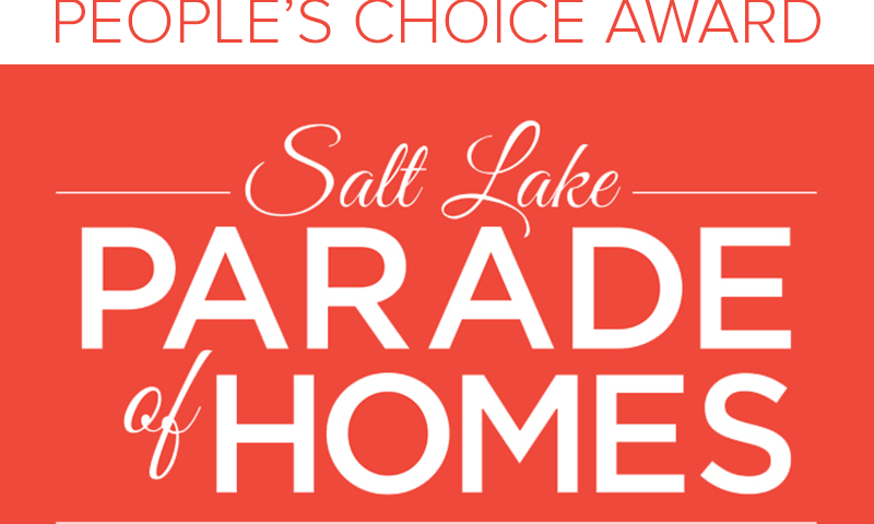 'PEOPLE'S CHOICE AWARD' 2015 SALT LAKE PARADE OF HOMES