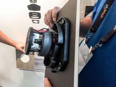 "Sonance flush-mount 4"" in-ceiling speakers, CEDIA 2015 | TYM, Salt Lake City, Utah"