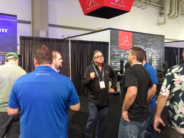 Our bud Rob Sample at the Paradigm booth, CEDIA 2015