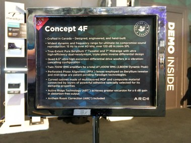 Paradigm Concept 4F floor standing loudspeaker speaker, CEDIA 2015 | TYM, Salt Lake City, Utah