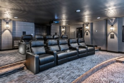 Home theater seating, 2015 Utah Valley Parade of Homes
