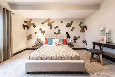 Guest bedroom, 2015 Utah Valley Parade of Homes