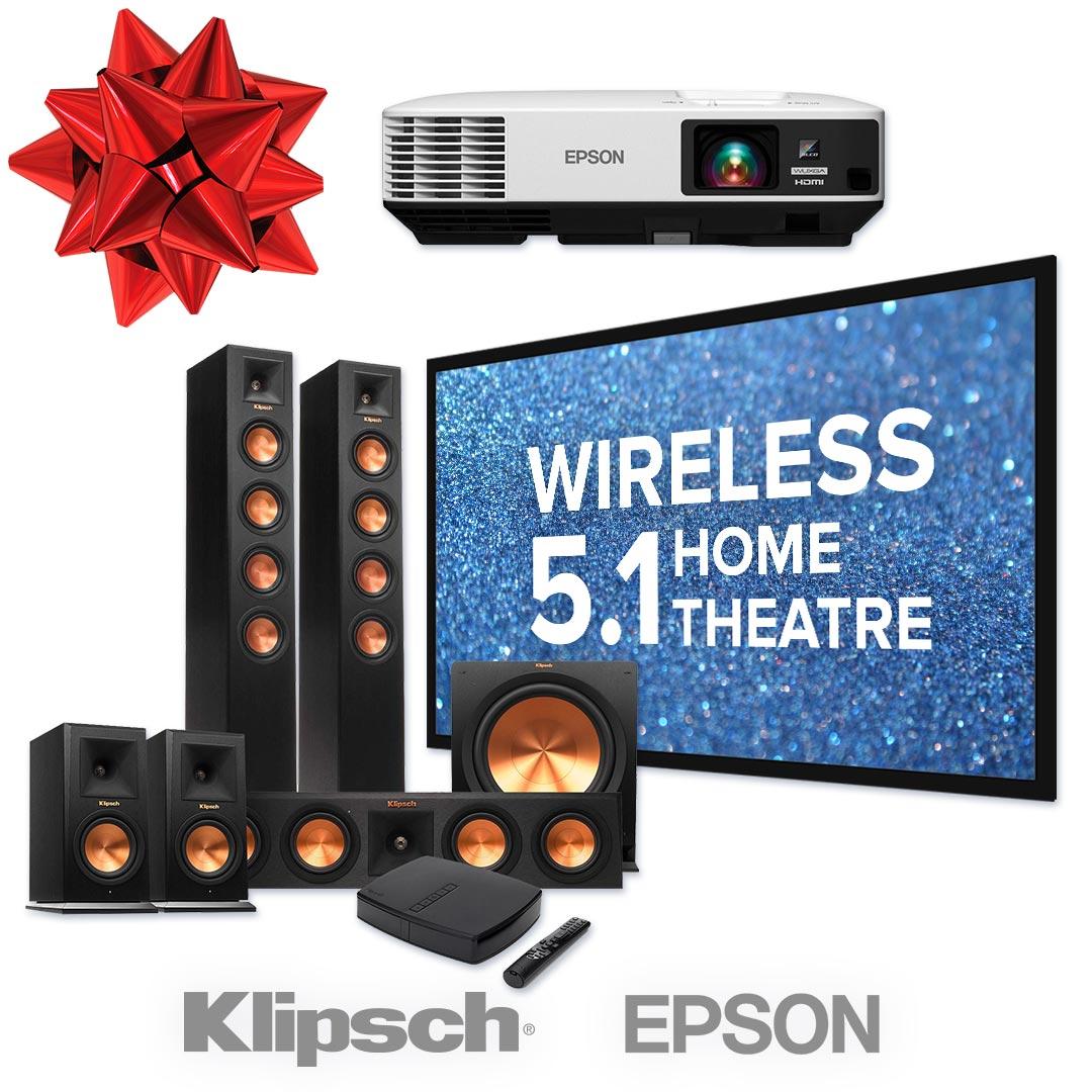 wireless klipsch 5.1 home theater package utah-01b