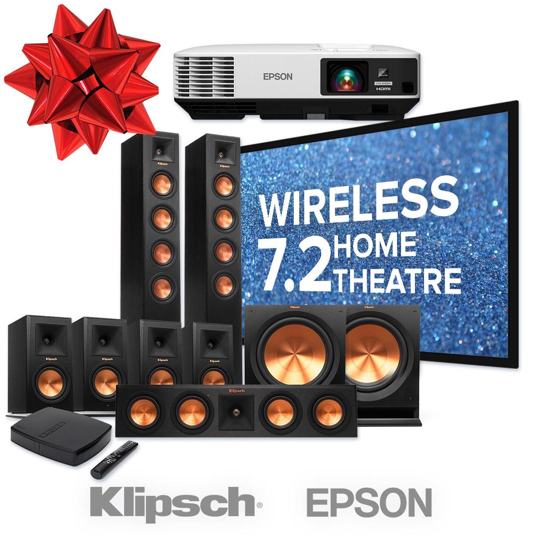 wireless klipsch 7.2 home theater package utah