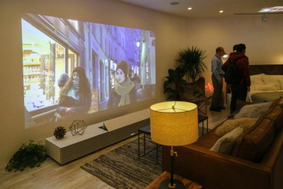 Sony Ultra-short throw Laser 4K Projector CES 2016
