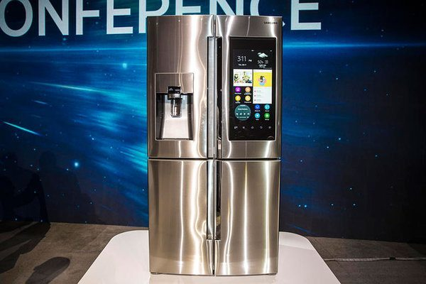 Samsung Family Hub Refrigerator CES 2016, Salt Lake City