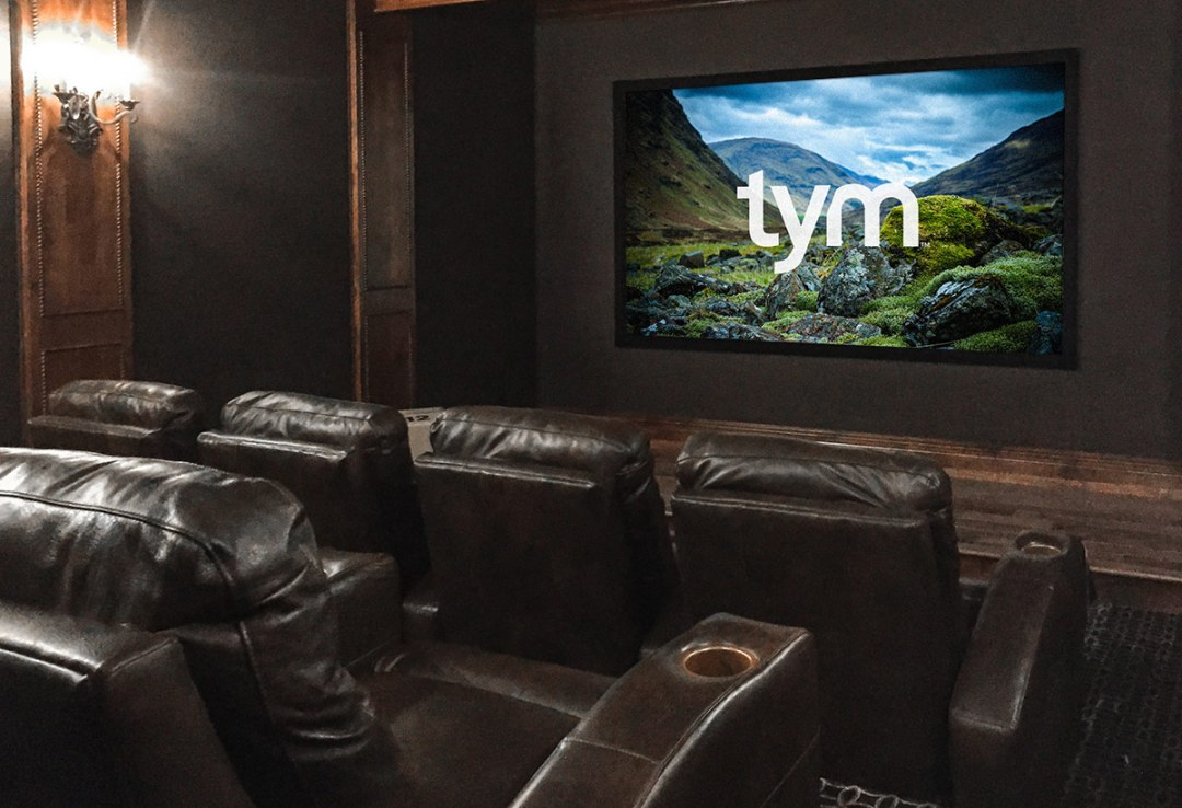Upholstered Walls In A Home Theater Salt Lake City Utah