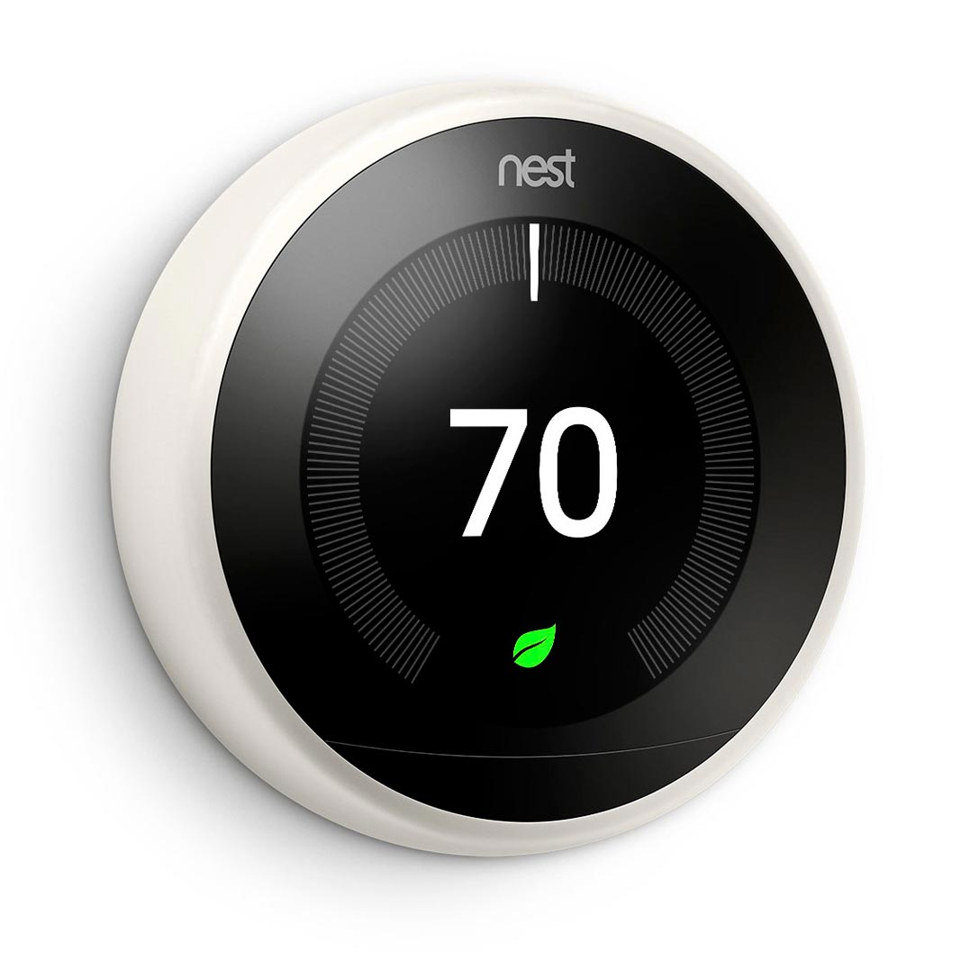 Nest Learning Thermostat White Color