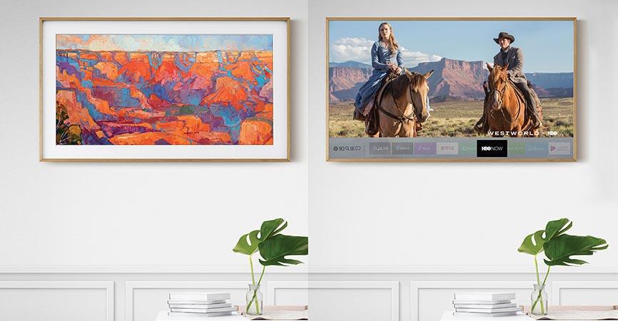 digital wall picture frame beautiful art samsungs the frame brings digital art into the home frame 4k tv