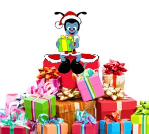 Mouchtic Noel montagne de cadeaux Association Tyo Story Animations pour les enfants des orphelinats paris ile de france