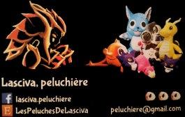 Carte de Visite de Lasciva Peluchière, Partenariat avec Association TyoStory