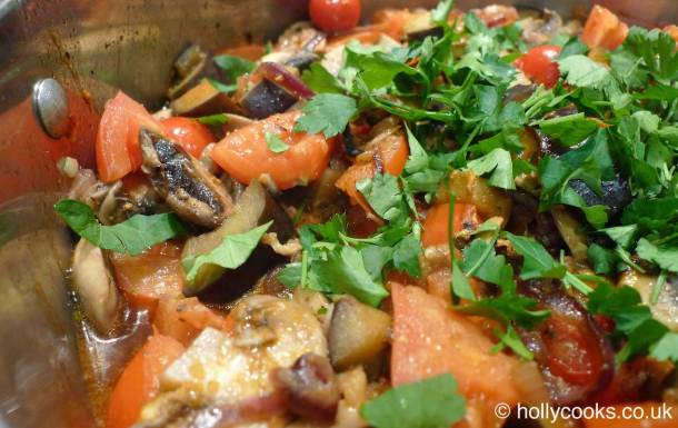 Holly-cooks-Italian-aubergine-mushroom-and-tomatoes800web