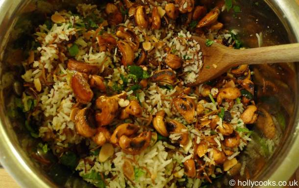 Holly-cooks-Lebanese-rice-with-spicy-nuts-and-raisins-300x300
