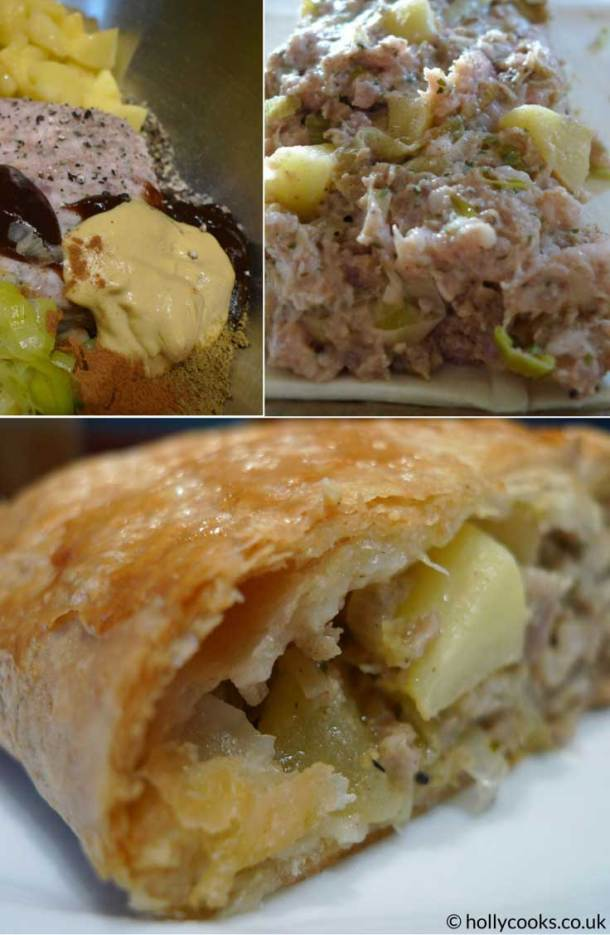 Holly-cooks-pork-leek-and-apple-sausage-roll-pinterest