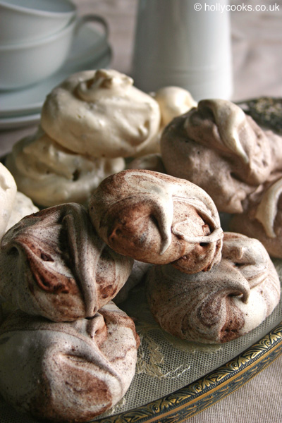 chocolate and pecan meringue