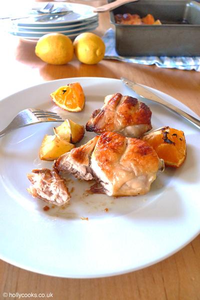 Type 1 Kitchenorange and lemon chicken close-up