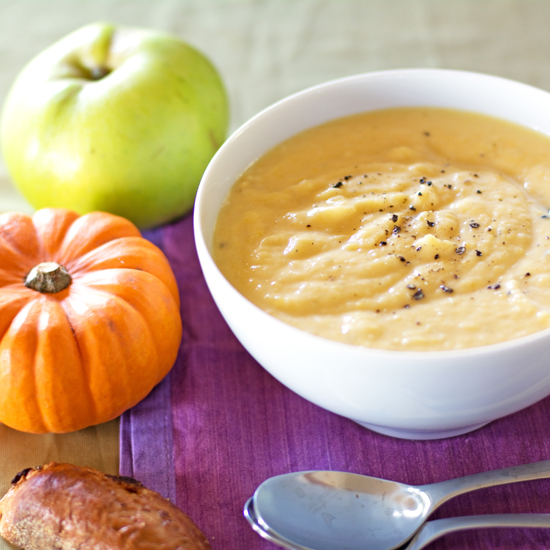 Pumkpin parsnip and apple soup