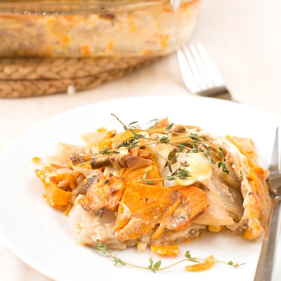 sweet potato and celeriac gratin