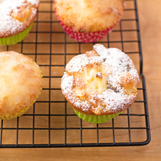 Lemon & coconut drizzle and prune & apple cupcakes