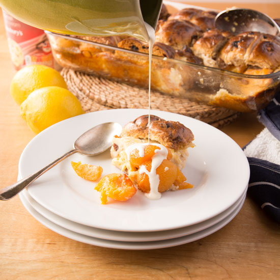 Holly-Cooks-Apricot-and-hot-cross-bun-bread-and-butter-pudding-with-cream550FG
