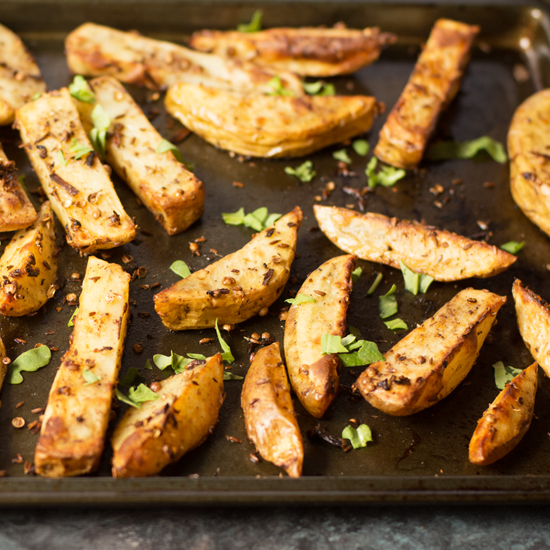 Storing spices and the best spicy potato wedges