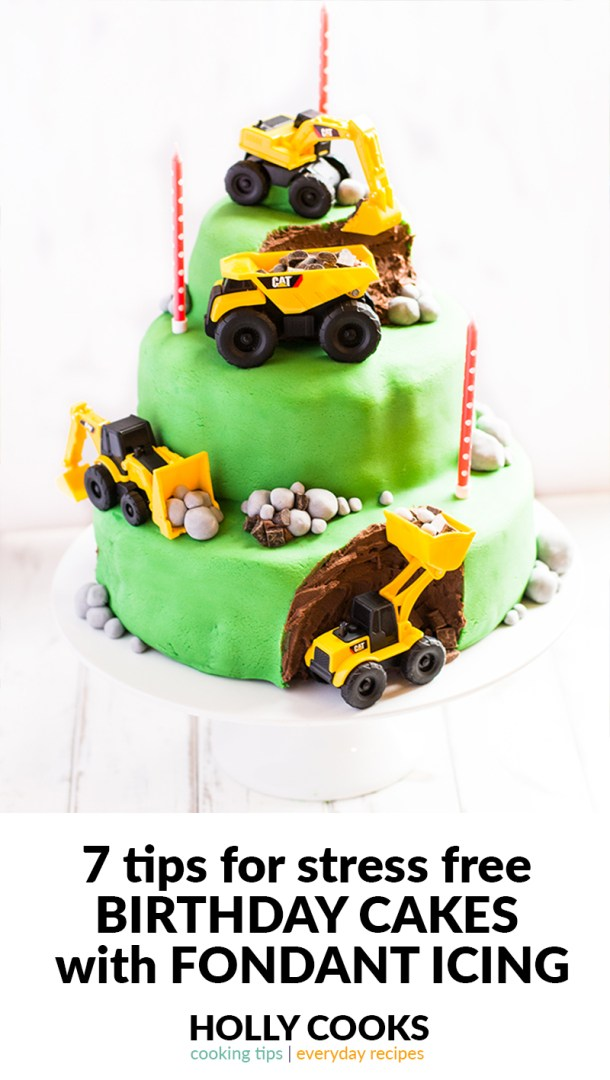 7 Tips For A Stress Free Kids Birthday Cake With Fondant Icing