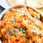 Sweet potato, lentil and tarragon stew TR