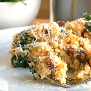 Chorizo, butternut squash and lemon risotto