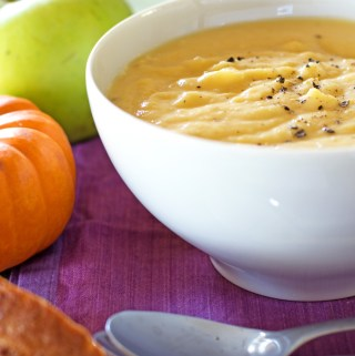Pumpkin, parsnip and apple soup
