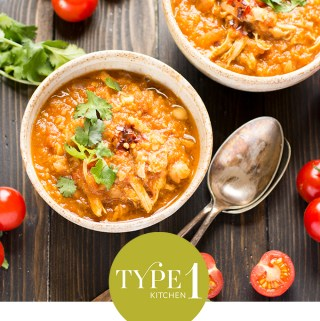 Spiced chicken, tomato and chickpea soup – low GI