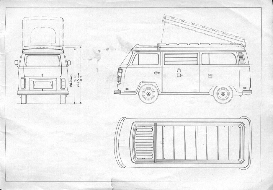 1000+ images about VW T2 line drawings on Pinterest