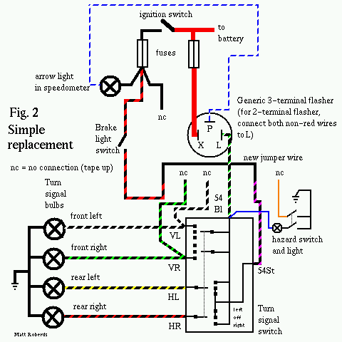 wiring diagram turn signal relay amf harley davidson golf cart vw 9 prong box troubleshooting and replacement simple replacment