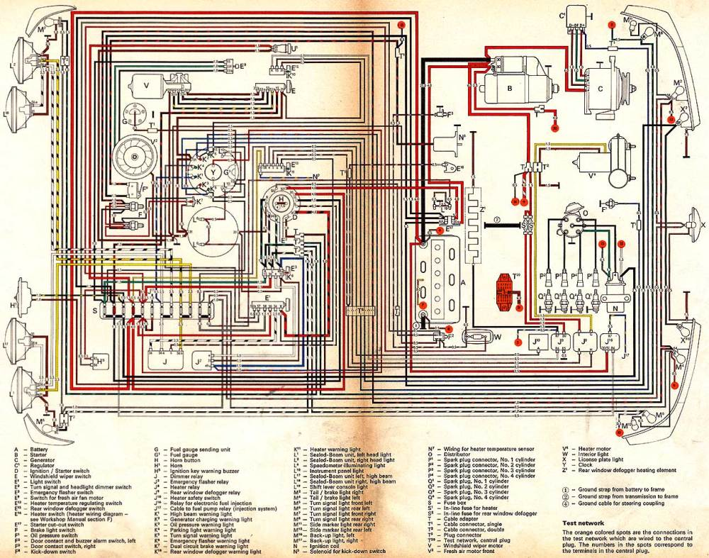 medium resolution of 1970 vw engine wiring