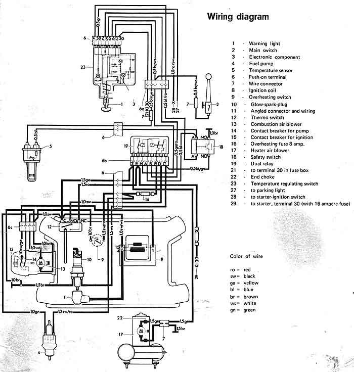 espar engine heater wiring diagram