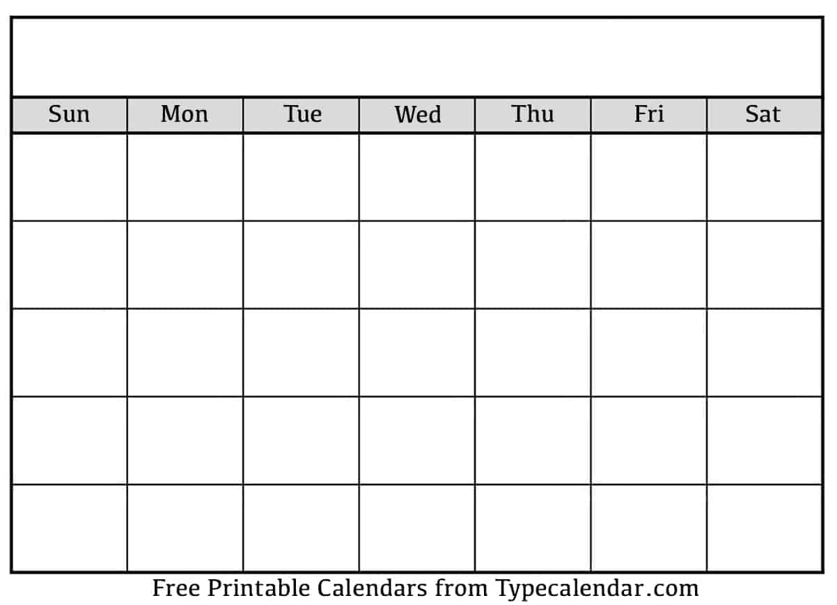 From scrapbooking to party decorations, these free printable t. Download Printable Blank Calendar Templates