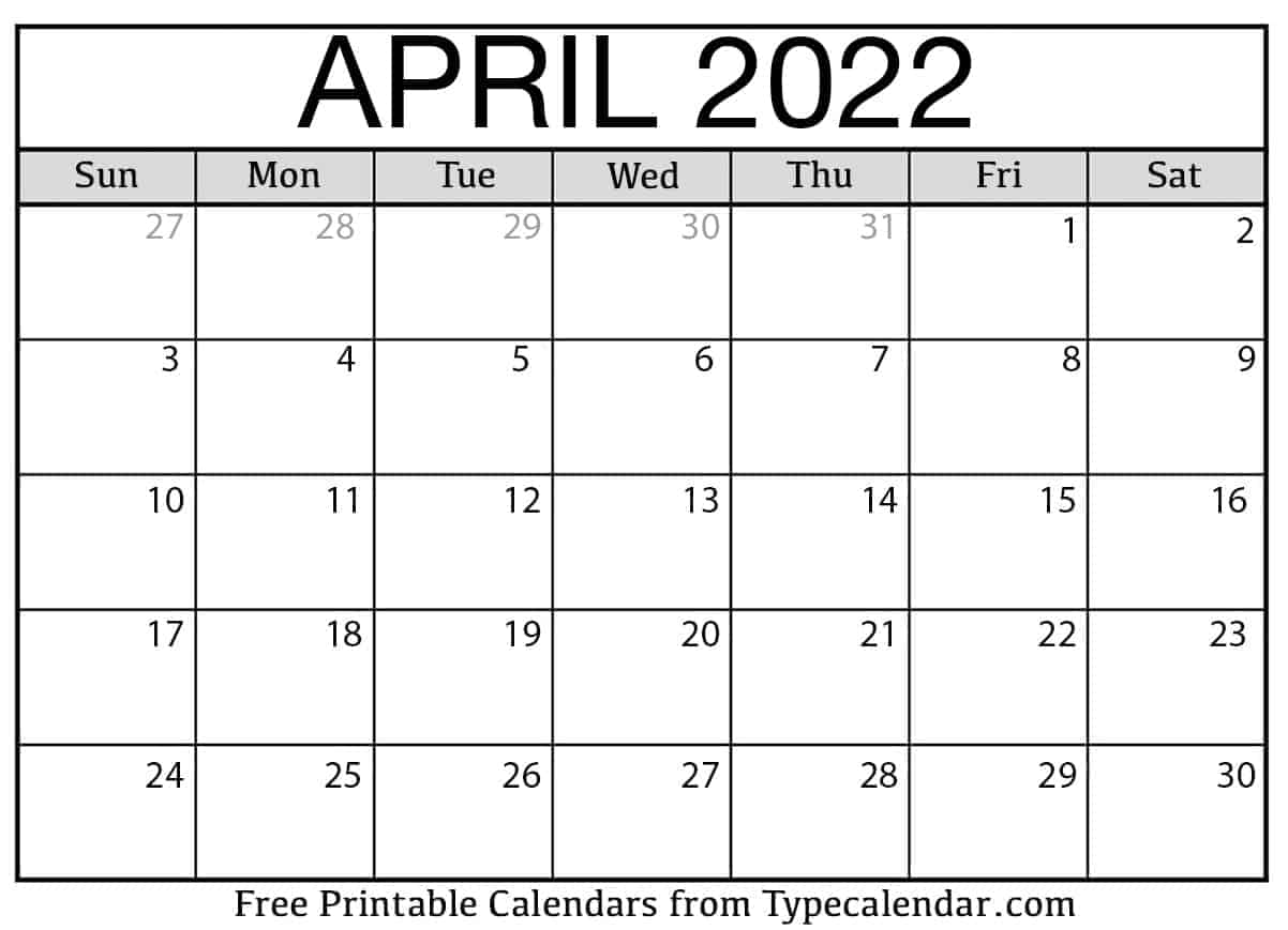 You don't have to add each holiday to your personal calendar, though. Free Printable April 2022 Calendars