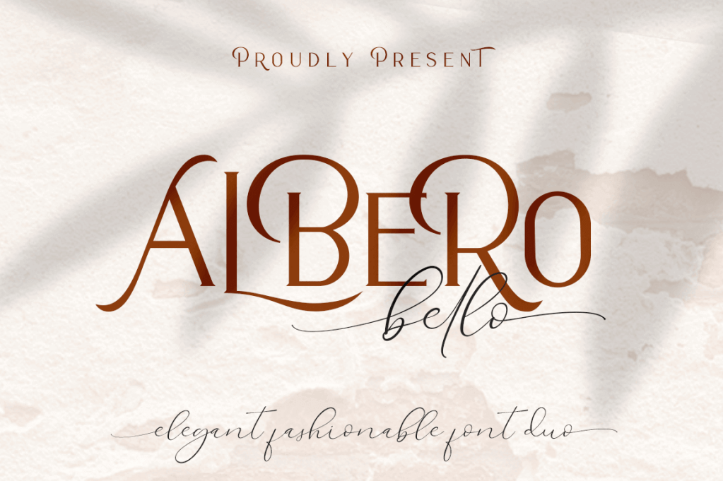 Alberobello Fashionable Font Duo