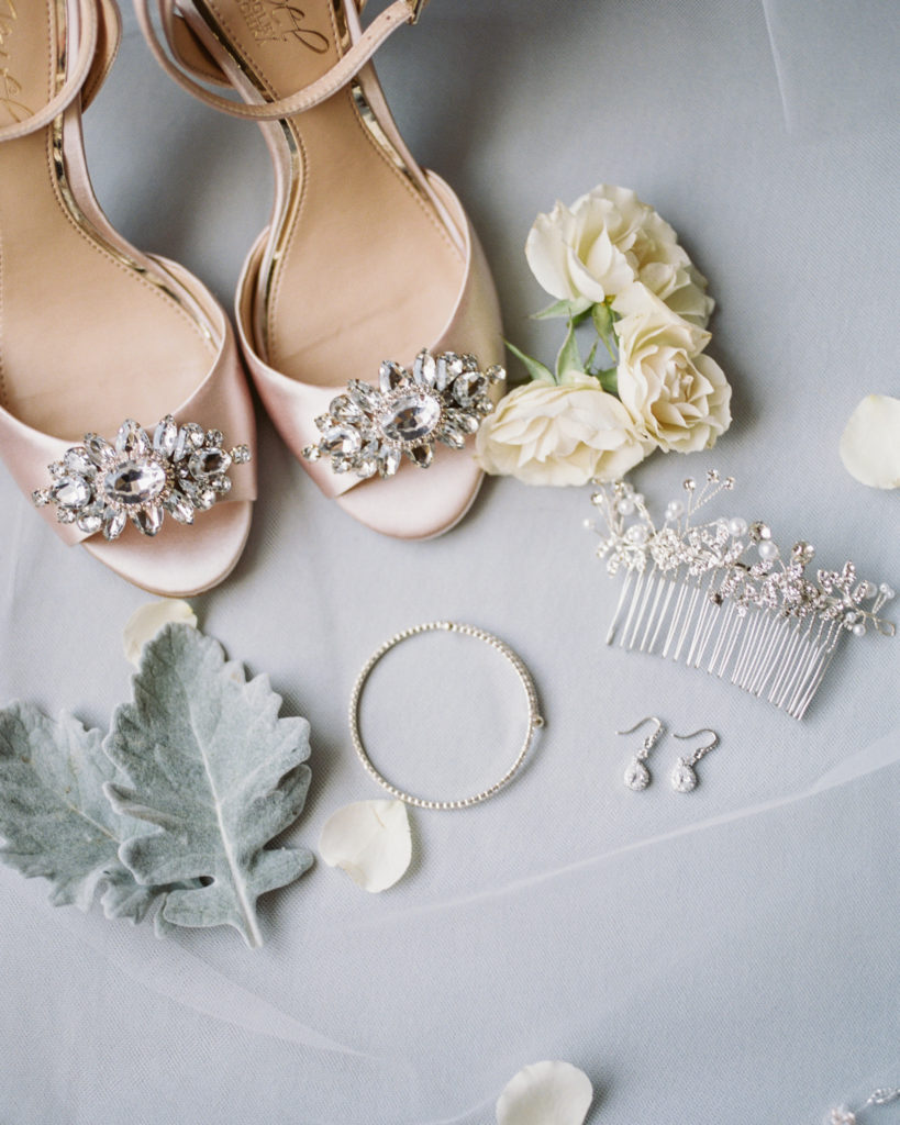 bridal accessories for a wedding at The Westin San Jose