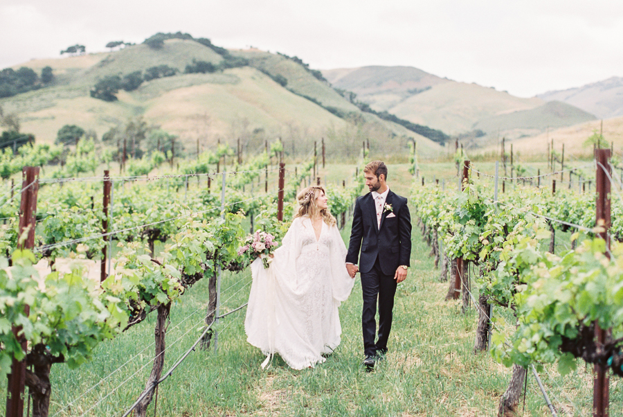 a couple celebrating their wedding at Higuera Ranch