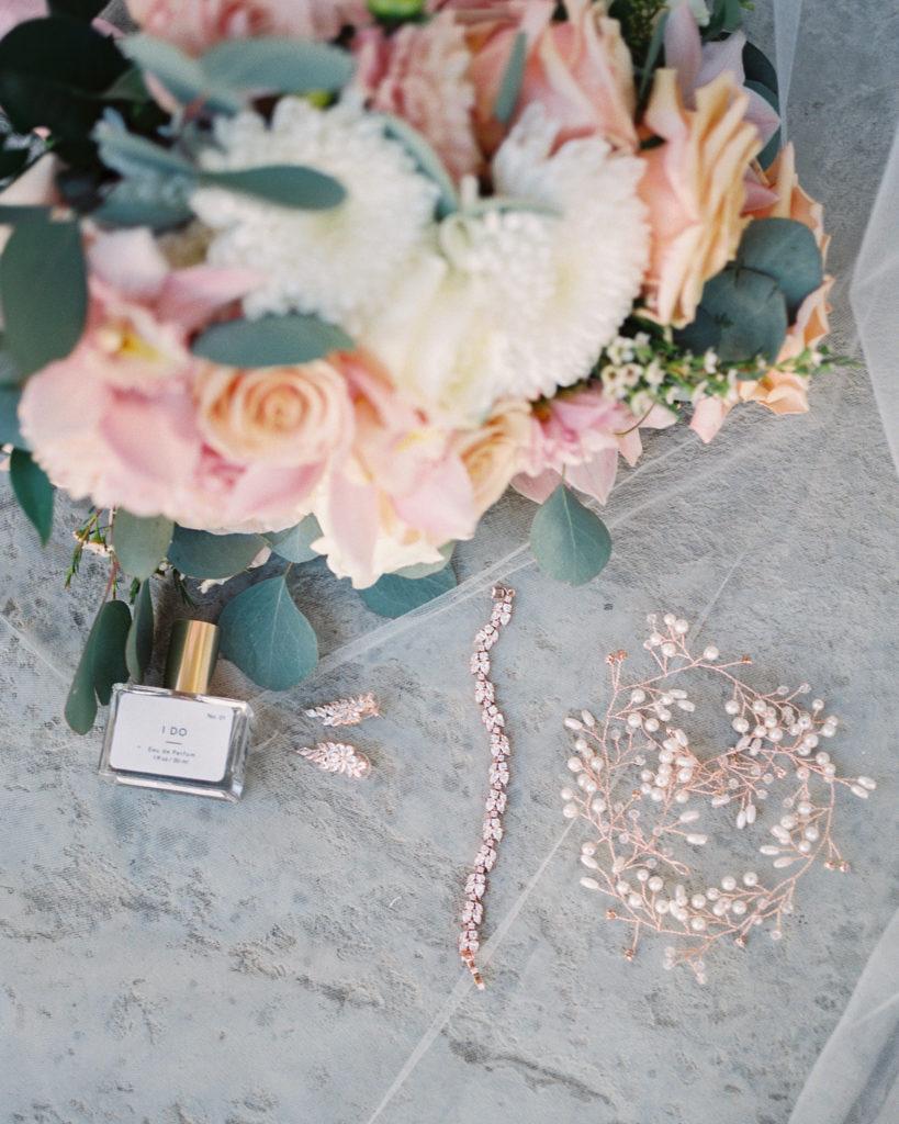 bridal details for an intimate estate wedding
